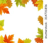 fall vector leaf border... | Shutterstock .eps vector #314731856