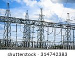 electric post power plant... | Shutterstock . vector #314742383