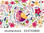 vector pattern with beautiful... | Shutterstock .eps vector #314742800