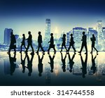 business people walking... | Shutterstock . vector #314744558