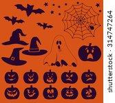 halloween vector symbols and... | Shutterstock .eps vector #314747264