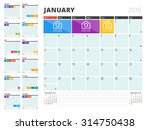 calendar planner for 2016 year. ... | Shutterstock .eps vector #314750438