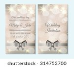 wedding invitation  thank you... | Shutterstock .eps vector #314752700