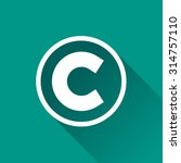 Illustration Of Copyright Flat...