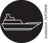 ship icon | Shutterstock .eps vector #314758940
