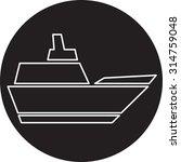 ship icon | Shutterstock .eps vector #314759048