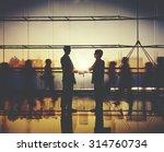 businessman people handshake... | Shutterstock . vector #314760734