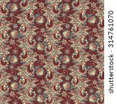 ethnic floral seamless pattern... | Shutterstock .eps vector #314761070
