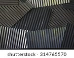 zinc wall corrugated iron...   Shutterstock . vector #314765570