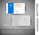 business card template. elegant ... | Shutterstock .eps vector #314777396