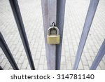 Padlock On A Gate  Security An...