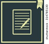 pictograph of note | Shutterstock .eps vector #314785130