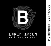letter logo b. alphabet design...