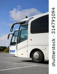 two white coach buses on... | Shutterstock . vector #314791094