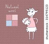 illustration of a cartoon sheep ... | Shutterstock .eps vector #314795123