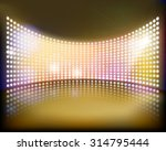 big projection screen on the...   Shutterstock .eps vector #314795444