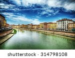 pisa lungarno under a dramatic... | Shutterstock . vector #314798108