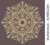 oriental vector pattern with... | Shutterstock .eps vector #314801264