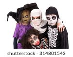 kids with face paint and... | Shutterstock . vector #314801543