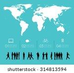 modern infographic for business ... | Shutterstock .eps vector #314813594