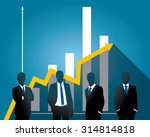 silhouette people of business... | Shutterstock .eps vector #314814818