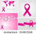 breast cancer awareness pink... | Shutterstock . vector #314815268