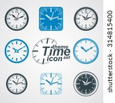 simple vector wall clocks with...   Shutterstock .eps vector #314815400
