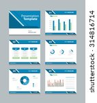 vector template presentation... | Shutterstock .eps vector #314816714