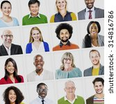 portrait of multiethnic... | Shutterstock . vector #314816786