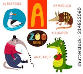 cute zoo alphabet in vector.  a ... | Shutterstock .eps vector #314822060