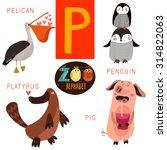 cute zoo alphabet in vector.p ... | Shutterstock .eps vector #314822063