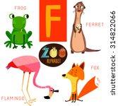 cute zoo alphabet in vector.f... | Shutterstock .eps vector #314822066