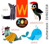 Cute Zoo Alphabet In Vector.w...