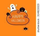 ghost  pumpkin  eyeball ... | Shutterstock .eps vector #314823323
