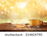 front image of coffee cup over... | Shutterstock . vector #314824790