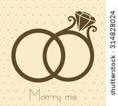 wedding rings with diamond... | Shutterstock .eps vector #314828024
