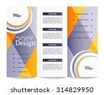 tri fold brochure template | Shutterstock .eps vector #314829950