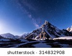 Starry Night With Mitre Peak A...