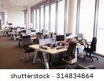 open plan office interior