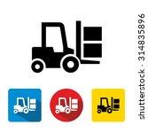 forklift delivery truck vector... | Shutterstock .eps vector #314835896