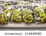 packed green grapes on a... | Shutterstock . vector #314838980