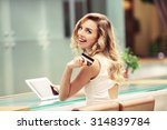 beautiful young woman with... | Shutterstock . vector #314839784