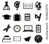 education school icons set | Shutterstock .eps vector #314841074