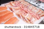 Seafood Counter Display Of Fis...