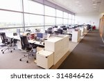 Large Open Plan Office Interior ...