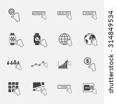 hand pointer icons set.vector. | Shutterstock .eps vector #314849534