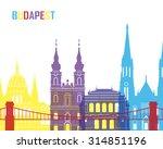 budapest skyline pop in... | Shutterstock .eps vector #314851196