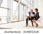 two senior business colleagues... | Shutterstock . vector #314852318