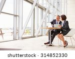 two senior business colleagues... | Shutterstock . vector #314852330
