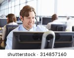 Male Call Centre Worker ...